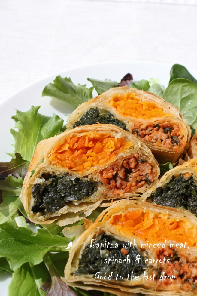 IMG_0382_Banitza with minced meat, spinach & carrots